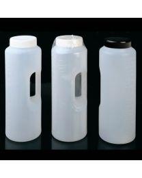 Bouteille graduée cylindrique avec manche à échantillon 2 L