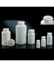 Flacons cylindriques avec bouchon étoile en polyéthylène haute densité