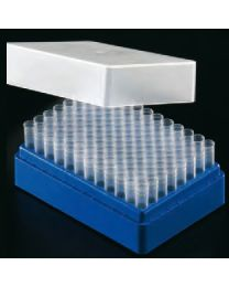 Système de fichiers de tubes d'échantillons 1,2 ml bleu