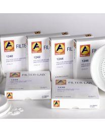 Papier filtre qualitatif vitesse moyenne faible en cendres