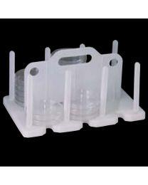 Portoir de stockage et transport de boîtes de Pétri de 90 à 100 mm