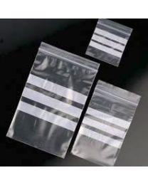 Sacs avec fermeture à glissière avec bandes