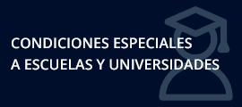 Condiciones especiales a escuelas y universidades
